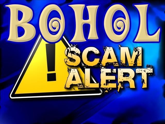 Bohol scam alert