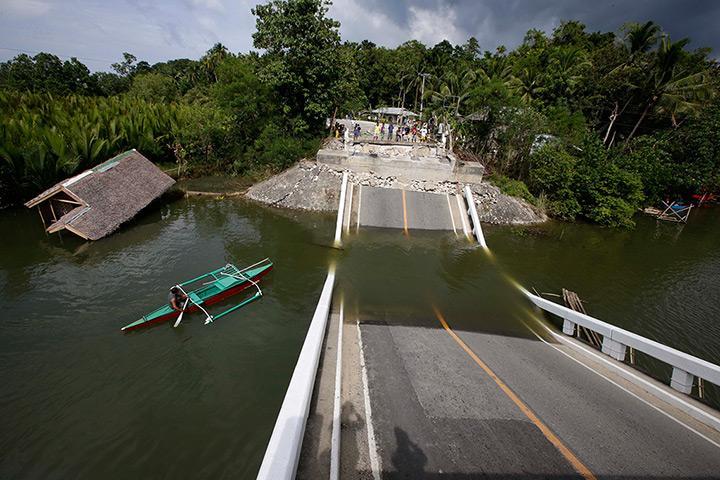 Abatan bridge in cortez town, bohol province