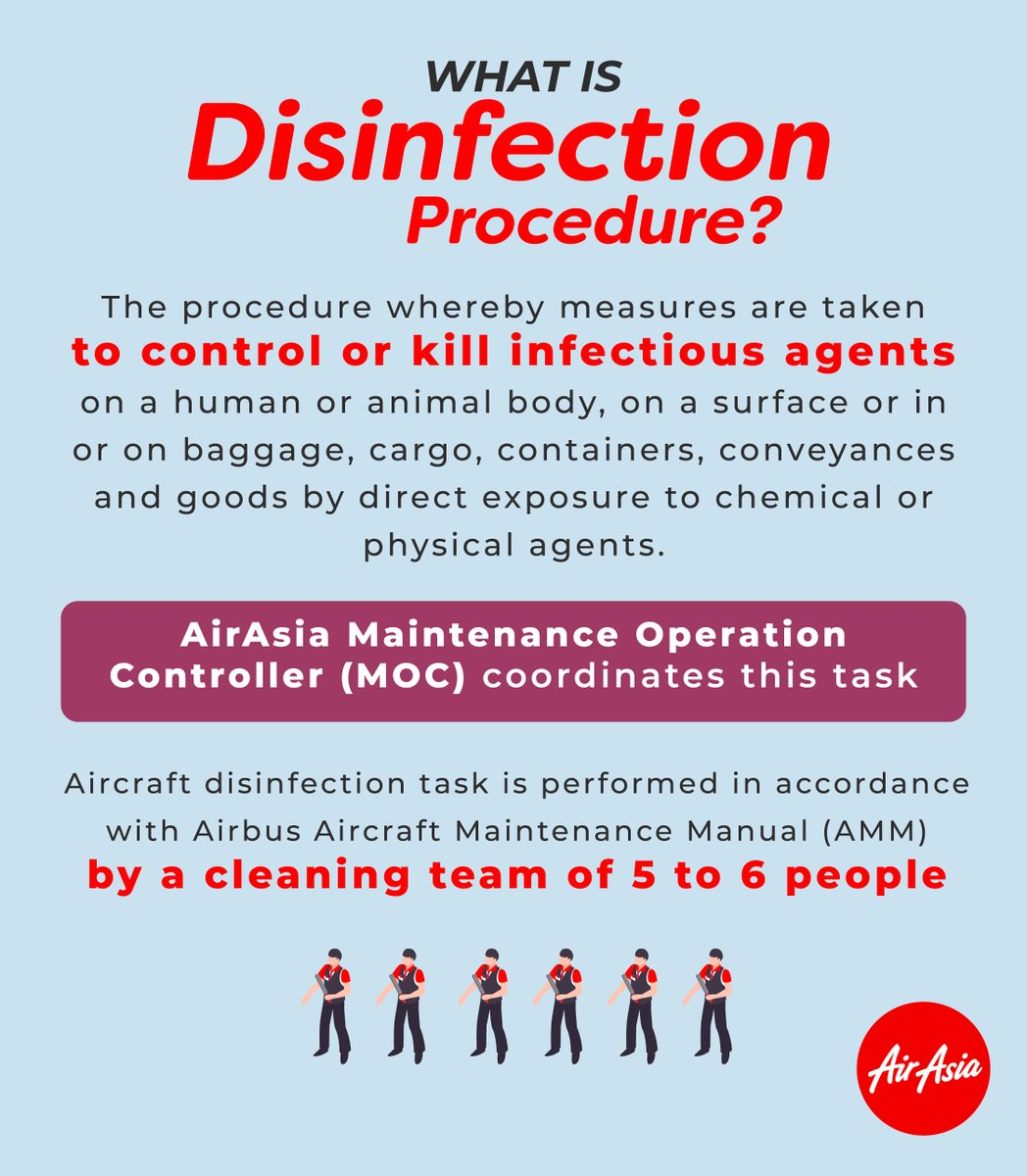 Air asia disinfection
